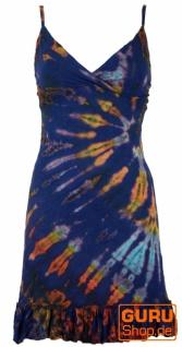 Batik Minikleid, Boho Bleistiftkleid, Batikkleid - enzianblau