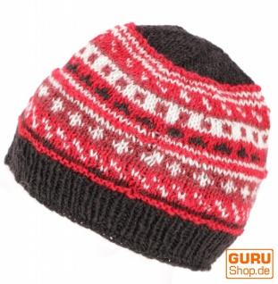 Beanie Mütze, Strickmütze - rot