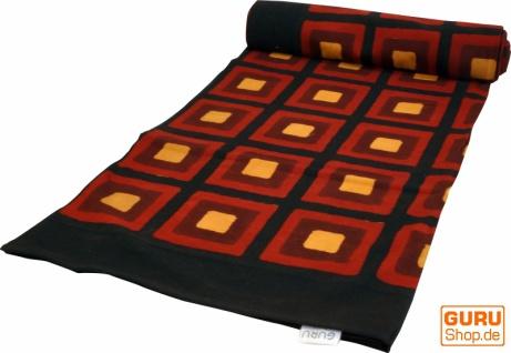 Blockdruck Tagesdecke, Bett & Sofaüberwurf, handgearbeiteter Wandbehang, Wandtuch - rot/schwarz Afrika Design