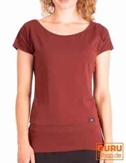T-Shirt aus Bio-Baumwolle / Chapati Design - copper