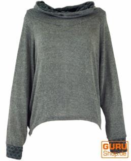 Hoody, Sweatshirt, Pullover, Kapuzenpullover - grau