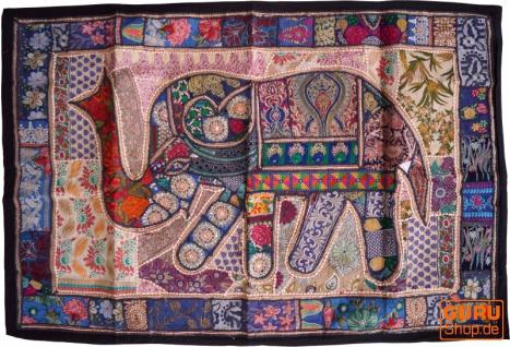 Indischer Wandteppich Patchwork Wandbehang, Einzelstück 150*100 cm - Muster 50
