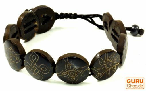 Buddhistisches Armband Ashtamangala - schwarz Modell 5