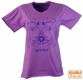 Sternzeichen T-Shirt `Zwillinge` - lila