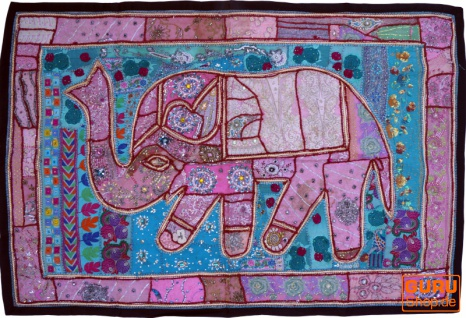 Indischer Wandteppich Patchwork Wandbehang, Einzelstück 150*100 cm - Muster 29