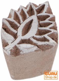 Indischer Textilstempel, Holz Stoffdruckstempel, Blaudruck Stempel, Druck Modell - 2, 5*2 cm Blume 6
