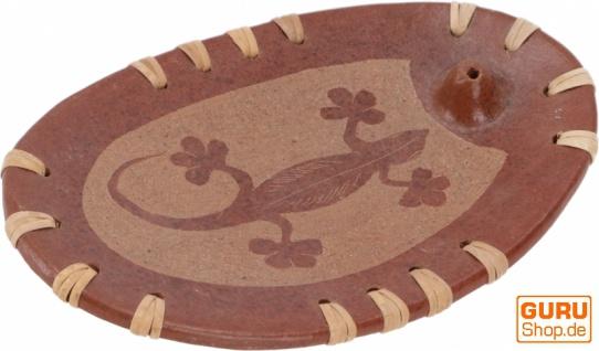 Keramik Räucherstäbchenhalter - Gecko 1
