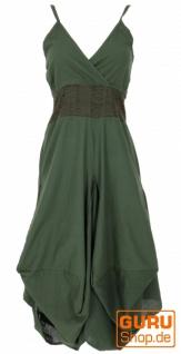 Langes Sommerkleid Hippie chic - olive/dunkleSpitze
