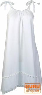 Minikleid, Ibizakleid, Sommerkleid, Trägerkleid, Hippiekleid - weiß