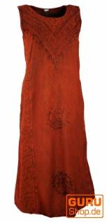 Besticktes Boho Sommerkleid, indisches Hippie Kleid, rot - Design 9