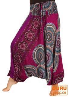 Afghani Hose, Overall, Jumpsuit, Haremshose, Pluderhose, Pumphose, Aladinhose - pink