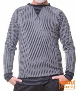 Pullover aus Bio-Baumwolle / Chapati Design - black/grey