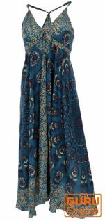 Sommerkleid, Maxikleid, Strandkleid, Hippiekleid im Peacook Style - petrol
