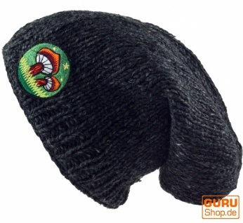 Beanie Mushroom Mütze, bestickte Nepalmütze Magic Mushroom Beanie - anthrazit c0bbb4