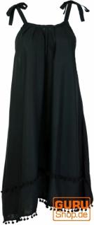 Minikleid, Ibizakleid, Sommerkleid, Trägerkleid, Hippiekleid - schwarz