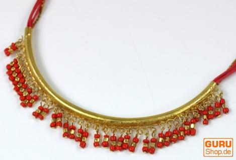 Modeschmuck Kette - gold/rot