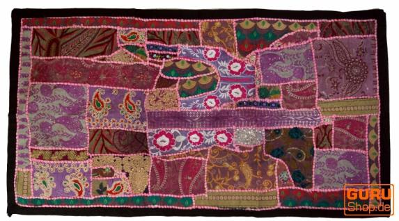 Patchwork Wandbehang, Wandteppich, Einzelstück 125*65 cm - Muster 13