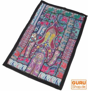 Indischer Wandteppich Patchwork Wandbehang/Tischläufer Einzelstück 90*65 cm - Muster 4