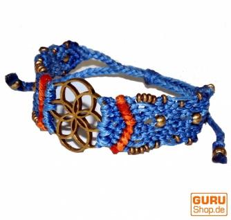 Goa Armband, Makramee, Festival Armband, Einzelstück - Blume Modell 10
