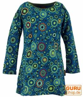 Bestickte Mädchen Tunika, Ethno Minikleid, Kinderkleid - türkis