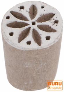 Indischer Textilstempel, Holz Stoffdruckstempel, Blaudruck Stempel, Druck Modell - Ø 2 cm Sternblüte 2