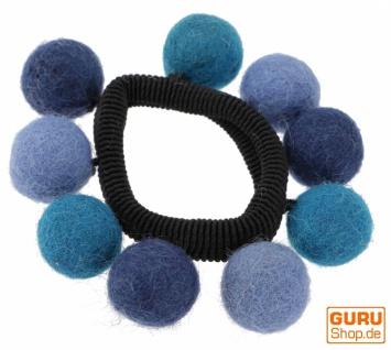 Haargummi `Filzkugel` - blau