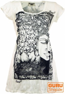 Sure Long Shirt, Minikleid Mantra Buddha - weiß