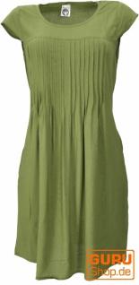 Minikleid Boho Style, schlichtes Sommerkleid - lemon