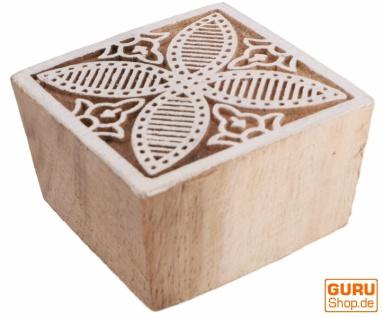 Indischer Textilstempel, Stoffdruckstempel, Blaudruck Stempel, Holz Model - 5*5 cm Blume 4