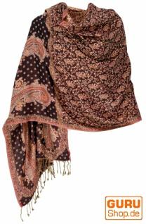 Indischer Schal, Stola mit Paislay Muster, Schultertuch - Motiv 5