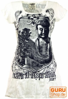 Sure Long Shirt, Minikleid Bodhi Baum Buddha - weiß