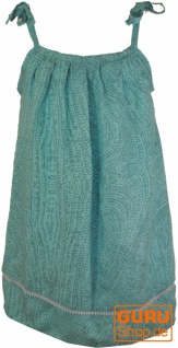 Kinderkleid, Sommerkleid, Trägerkleid, Strandkleid, Minikleid - hellblau
