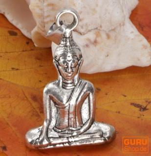 Buddha Kettenanhänger aus Messing - silber