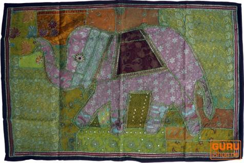Indischer Wandteppich Patchwork Wandbehang, Einzelstück 150*100 cm - Muster 53