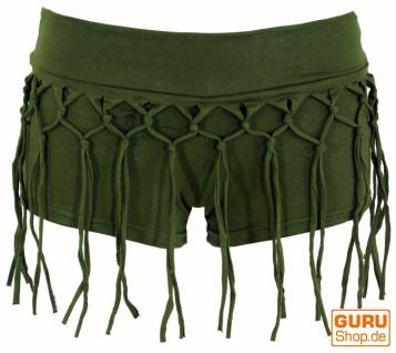 Goa Pantys, Psytrance Hotpants, Shorts - olive