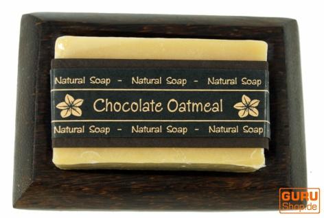 Exotisches Seifenset, Seife & Kokosholz Seifenschale - Chocolate Oatmeal - Vorschau 3