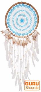 Traumfänger - blau/weiß 44 cm