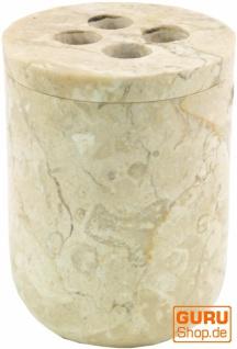 Marmor Zahnbürstenhalter, Zahnbürsten Becher - creme