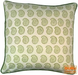Kissenbezug Blockdruck, Kissenhülle Ethno, Dekokissen Bezug mit traditionellem Design - Muster 5