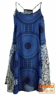 Boho Mandala Minikleid, Trägerkleid, Strandkleid, Tank Top - indigo