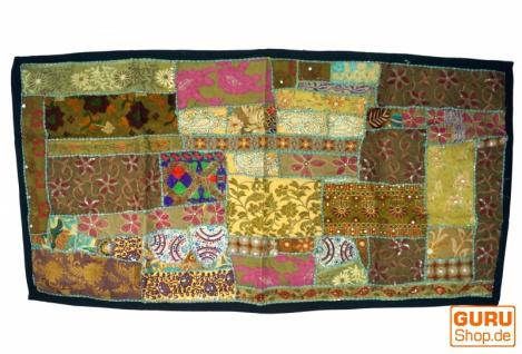 Patchwork Wandbehang, Wandteppich, Einzelstück 125*65 cm - Muster 21