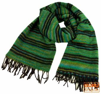 Weicher Goa Schal, großes Schultertuch, indischer Schal/Stola - smaragdgrün