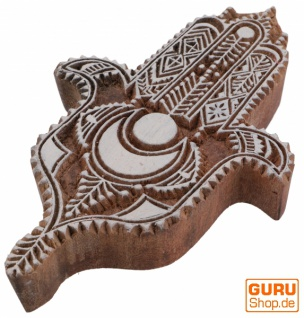 Indischer Textilstempel, Stoffdruckstempel, Blaudruck Stempel, Holz Model - 11*16 cm Fatimas Hand 1