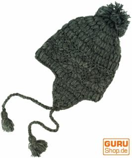 Mütze mit Ohrenklappen Ohrenklappen Ohrenklappen - grau c42091