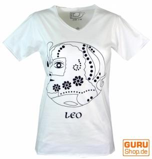 Sternzeichen T-Shirt `Löwe` - weiß