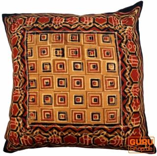 Kissenbezug Blockdruck, Dekokissen Bezug, Kissenhülle Ethno, Traditionelle Herstellung - Muster 22