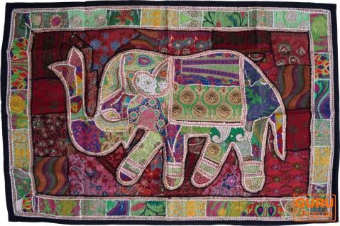 Indischer Wandteppich Patchwork Wandbehang, Einzelstück 150*100 cm - Muster 36