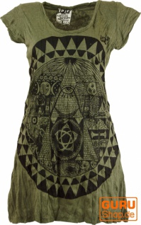 Sure Long Shirt, Minikleid Mandala - olive