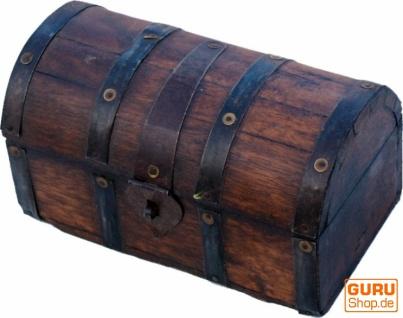 Rustikale halbrunde kleine Schatztruhe, Holzschachtel, Schmuck Dose - Modell 3
