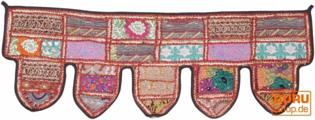 Orientalischer Wandbehang, indischer Toran, Wimpel Wandteppich, Wanddekoration, Tür Deko Einzelstück 90*30 cm - Design 6